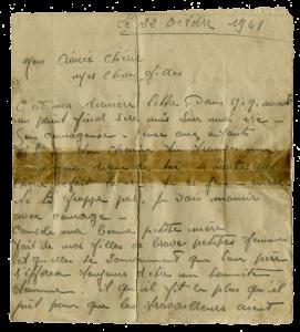 Dernère lettre de Charles MICHELS - Page 1 sur 3