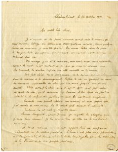 Dernière lettre de Jean Poulmarc'h (manuscrit recto)