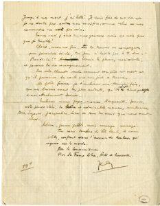 Dernière lettre de Jean Poulmarc'h (manuscrit verso)