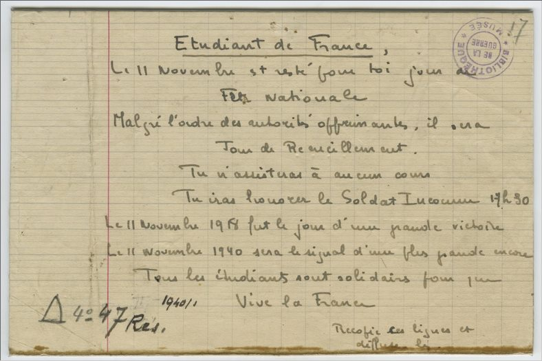 11 novembre 1940 Paris (2)