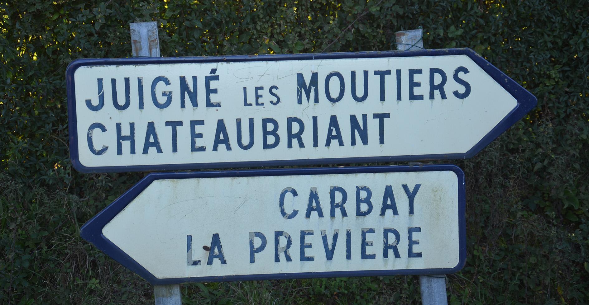 Panneaux de signalisation Châteaubriant