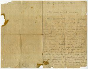 Dernière lettre manuscrite de Jean-Pierre Timbaud - Recto