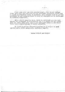 Tapuscrit du témoignage d'Esther Gaudin - Page 4 sur 4 (© MRN/fonds de l'Amicale Châteaubriant-Voves-Rouillé-Aincourt)