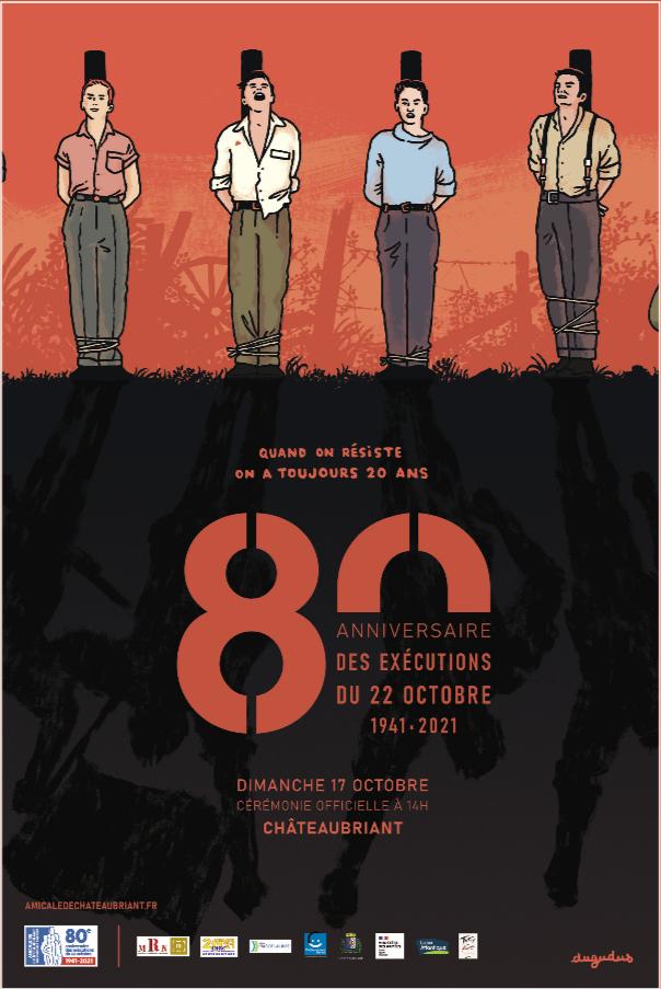 Affiche de Dugudus pour les cérémonies du 80e anniversaire des exécutions de Châteaubriant
